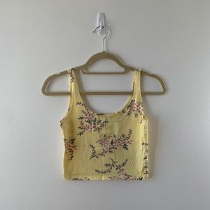F21: NWOT Cropped Yellow Tank